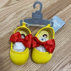 Disney Baby Snow White Shoes NWT Yellow Red Girls